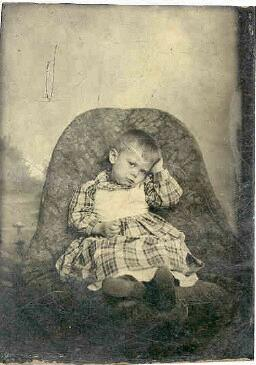 tintype of a child
