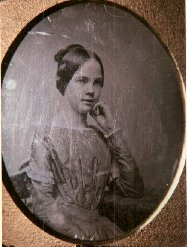 daguerreotype of a pensive teenaged girl/